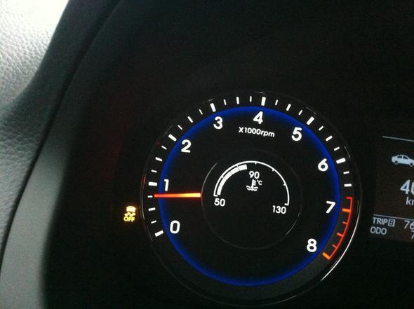 Was bedeutet diese Lampe am Auto bei einem Hyundai?