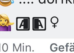 """Was bedeutet dieser """"A-Emoji""""?"""