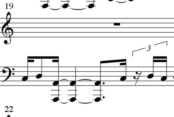 Bogen - (Musik, Noten, Klavier)