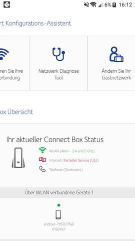 Was bedeutet dieser Status 'partieller Service'?