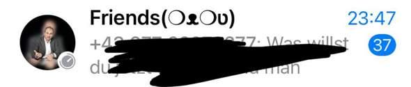Was bedeutet dieses Symbol in WhatsApp auf IOS?