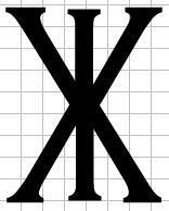 XI - (Zeichen, Symbol)