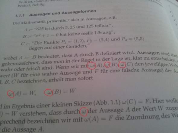 """was bedeutet dieses """"w"""" hier? Mathematik"""