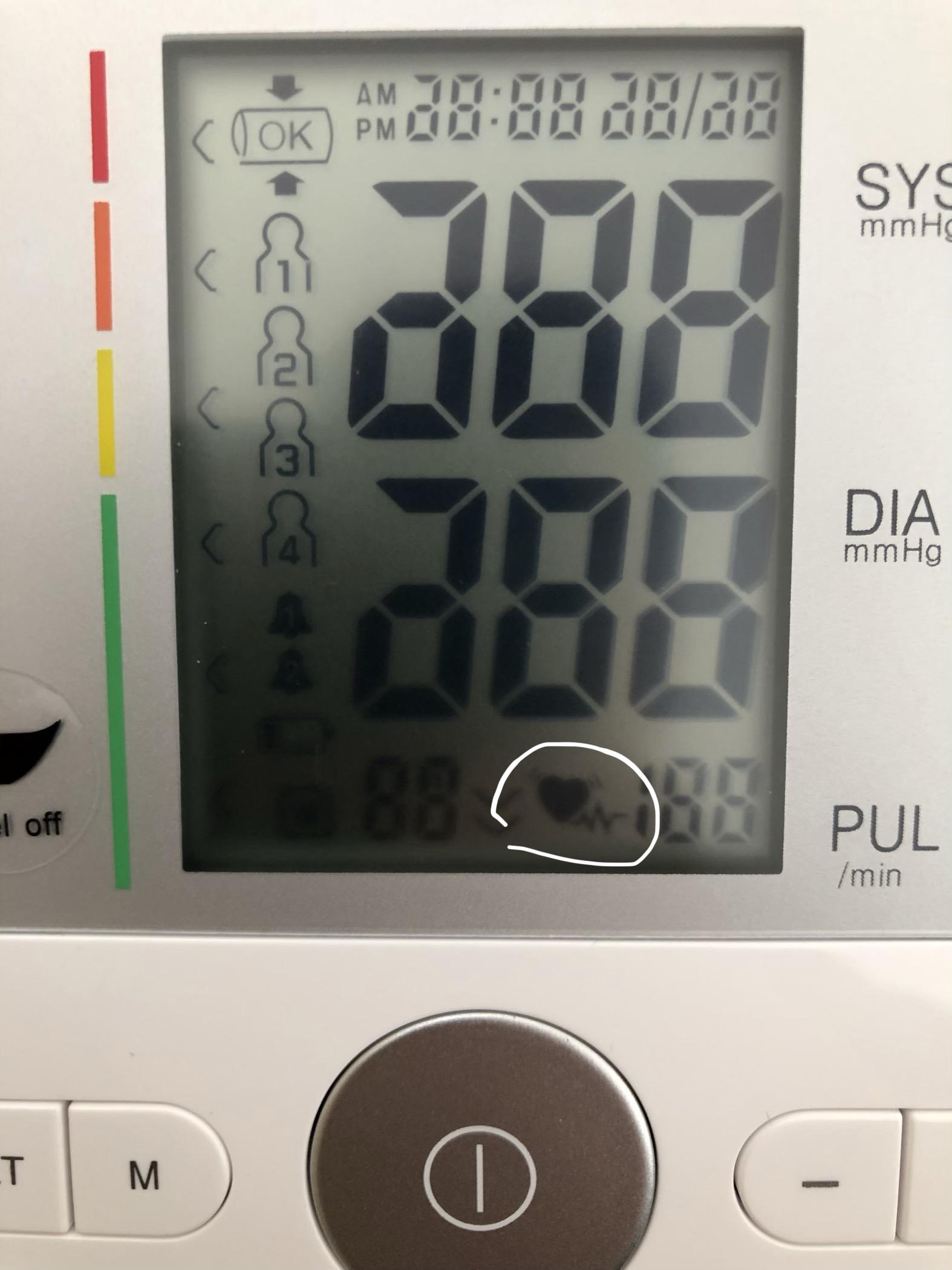 Was bedeutet dieses Zeichen beim Blutdruckmessgerät