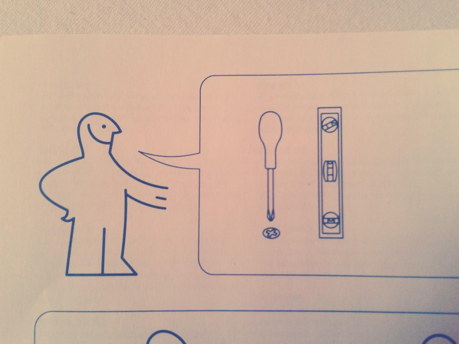 Was bedeutet dieses Zeichen in der Ikea Anleitung? (Mechanik, Spiegel)