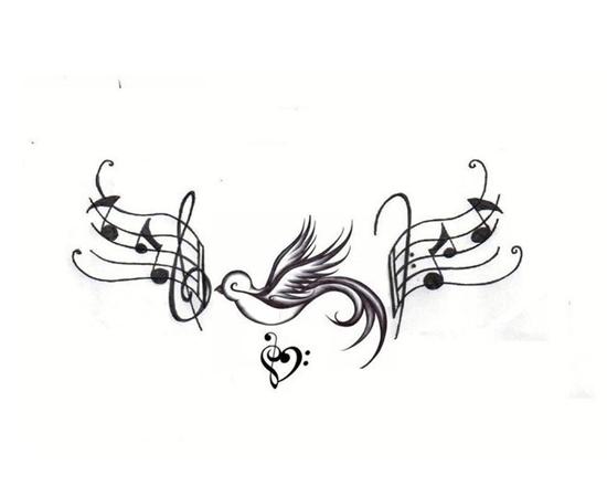 was bedeutet dieses zeichen tattoo musik herz vorlage. Black Bedroom Furniture Sets. Home Design Ideas