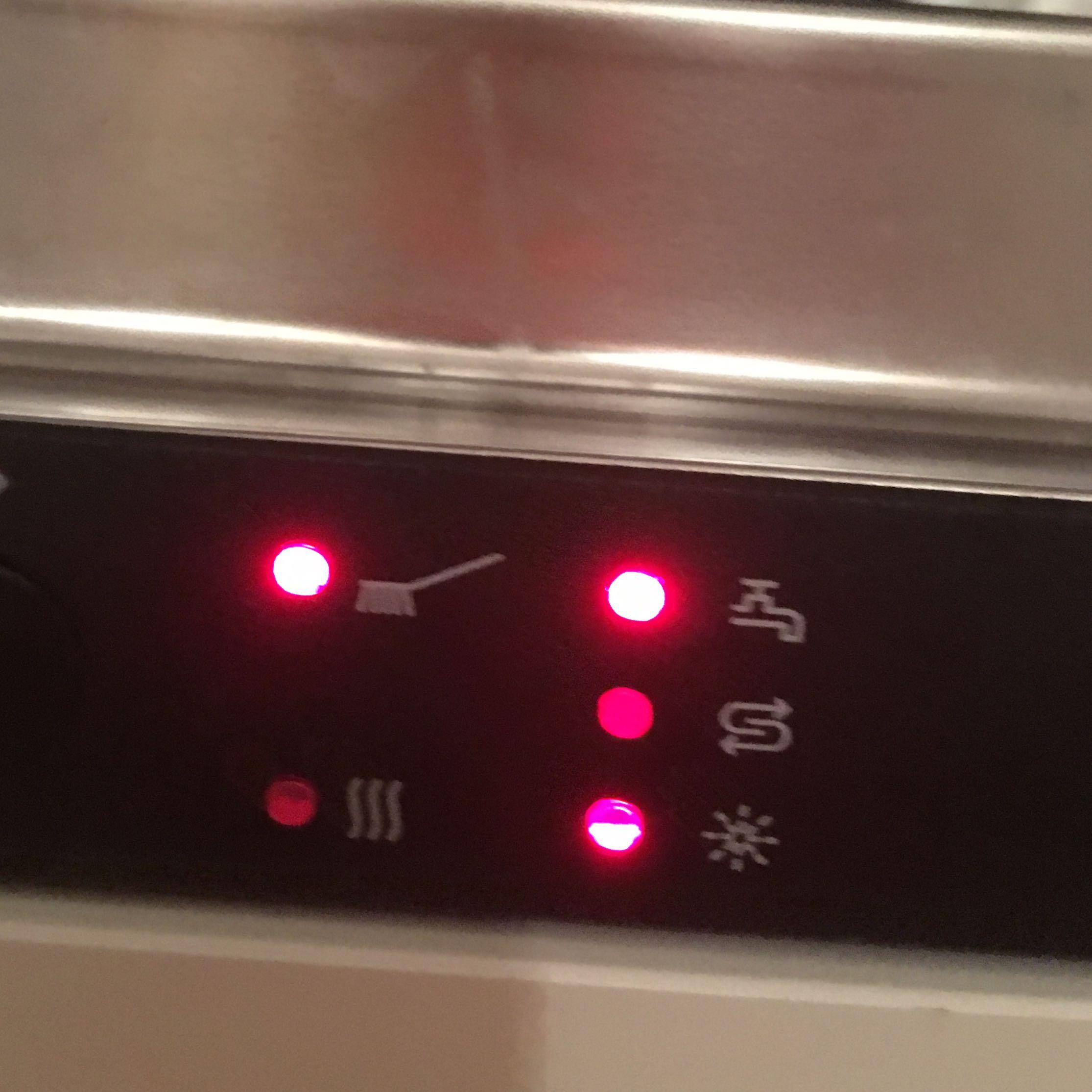 was bedeutet es wenn dieses zeichen bei einer junker  ~ Geschirrspülmaschine Reinigen