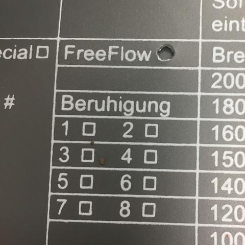 Was bedeutet FREEFLOW auf dem Wasserbett?