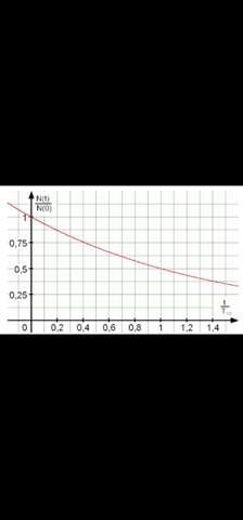 Was bedeutet N(t) / N(0) und t/T?