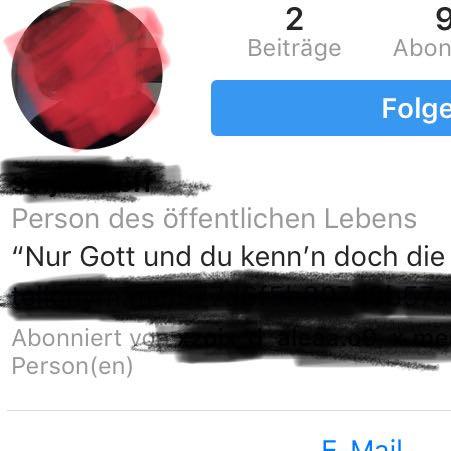 Instagram Person Des öffentlichen Lebens