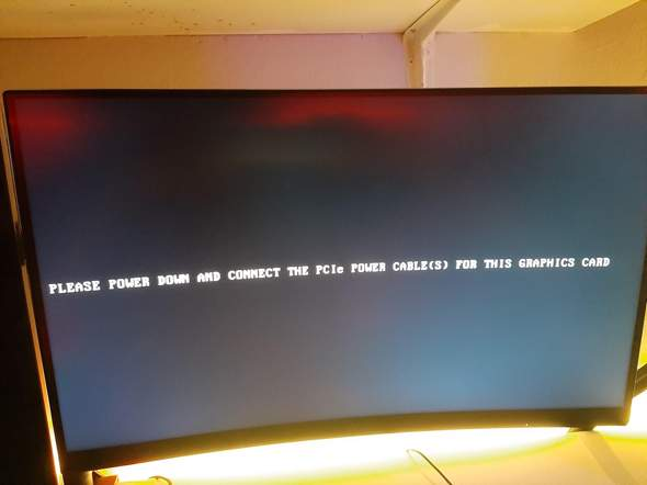 Was bedeutet (please Power downand connect the PCIe Power cable(s) for this graphics card?