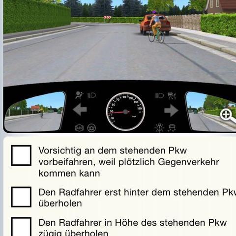 Radfahrerin Überholen Verhalten  - (Führerschein, Theorie, überholen)