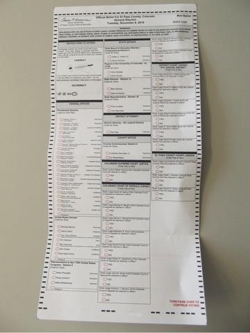 Wahlschein USA 2016 Colorado.jpg - (Internet, Politik, Wissen)