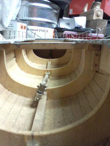 Das innere des Bootes  - (Modellbau, Modellboot)