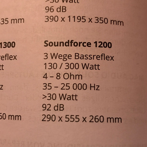 Technische Daten  - (Lautsprecher, HiFi, Bass)