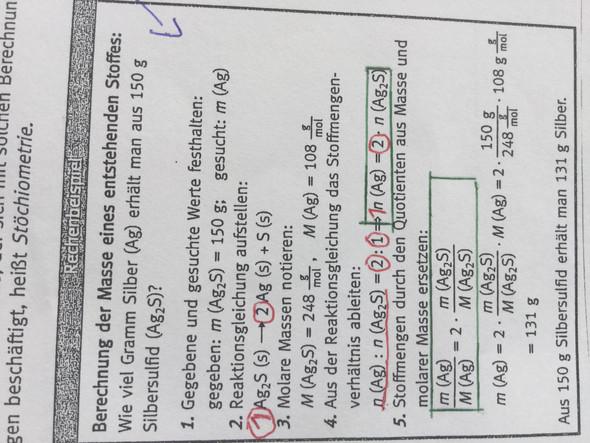 Aufgabe - (Chemie, reaktionsgleichungen, Stoffmengenverhältnis)