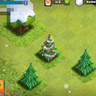 was bringt der weihnachtsbaum in clash of clans spiele app. Black Bedroom Furniture Sets. Home Design Ideas