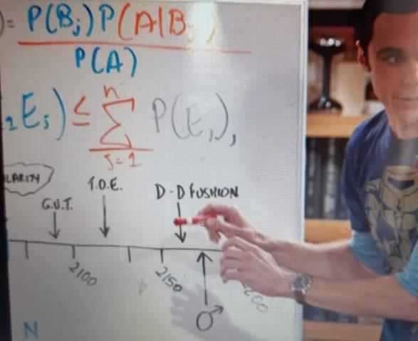 Was erklärt Sheldon auf diesem Bild?
