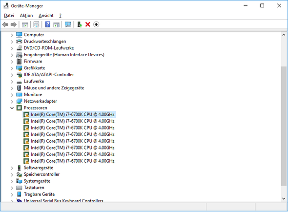 Taskmanager - (PC, Treiber, Intel)