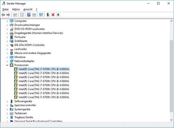 Was fehlt hier an software(i7-6700k)?