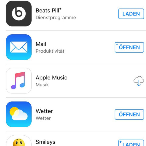 Siehe Bild  - (Musik, iPhone, Apple)
