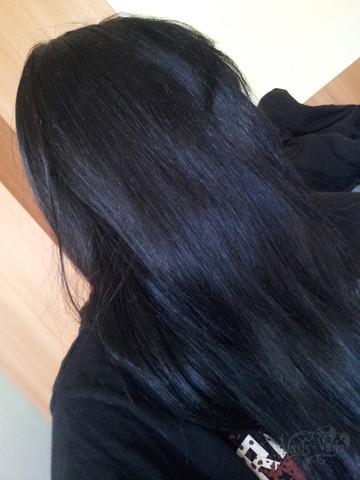 Haarfarbe dunkelbraun mit lila stich