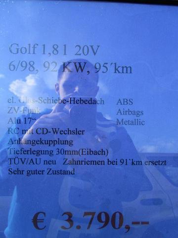 Datenblatt Golf Grün - (Autokauf, VW)