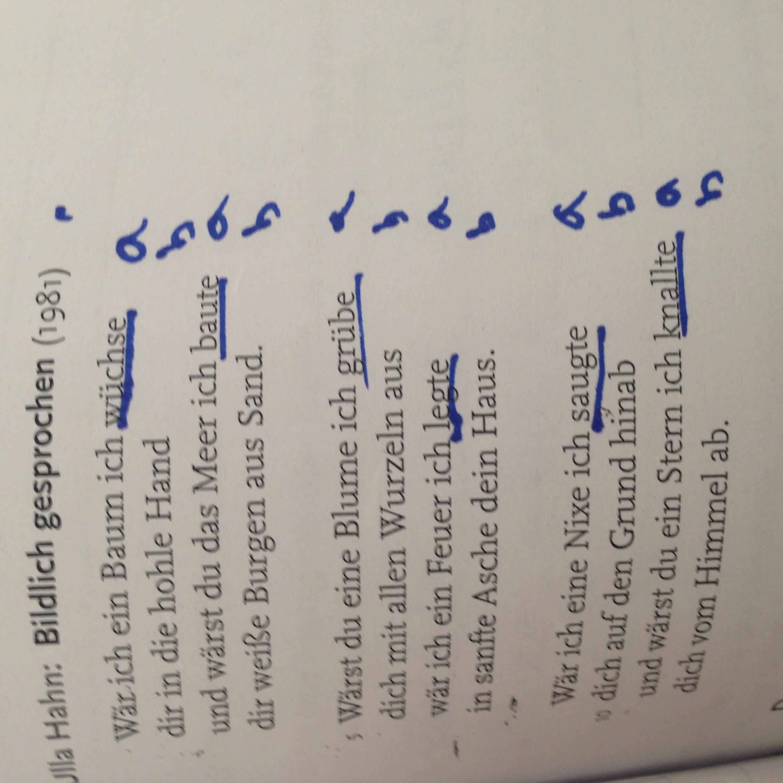 Was für ein Reimschema hat das Gedicht?