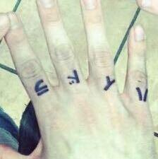 Das ist das das Tattoo - (Tattoo, Hand, Schrift)