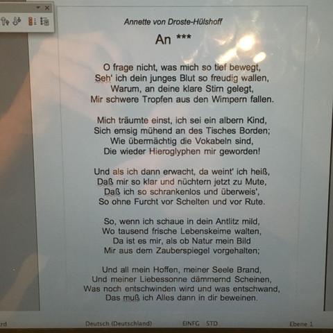 Gedicht  - (Schule, Deutsch, Sprache)