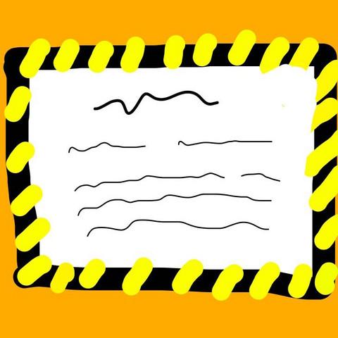 Zettel an der Tür, schemenhaft gezeichnet - (Recht, Gesetz, Wohnung)