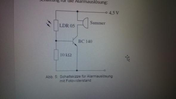 was f r eine aufgabe hat der transistor in diesem. Black Bedroom Furniture Sets. Home Design Ideas