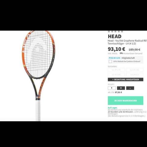 Tennisschläger Head - (Sport, Tennis, tennisschlaeger)