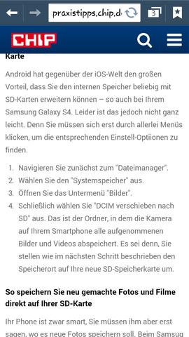Die Anleitung aus dem Internet - (Samsung Galaxy s4, dateimanager)