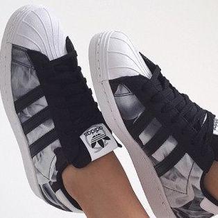 Adidas schuhe mit glitzer streifen