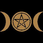 Pentagramm mit Mond - (wicca, Pentagramm mit Mond)