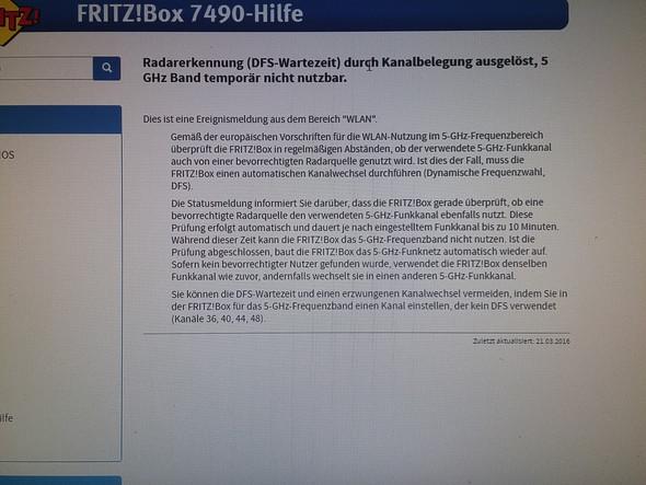 Fritz-box 7490, 5 GHz Wlan Temporär nicht nutzbar - (WLAN, Router, Fritz Box)