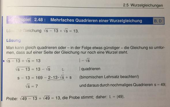 Mehrfaches Quadrieren einer Wurzelgleichung - (Mathe, Mathematik, Physik)
