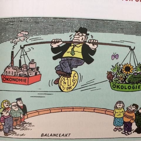 Karikatur - (Schule, Geld, Politik)