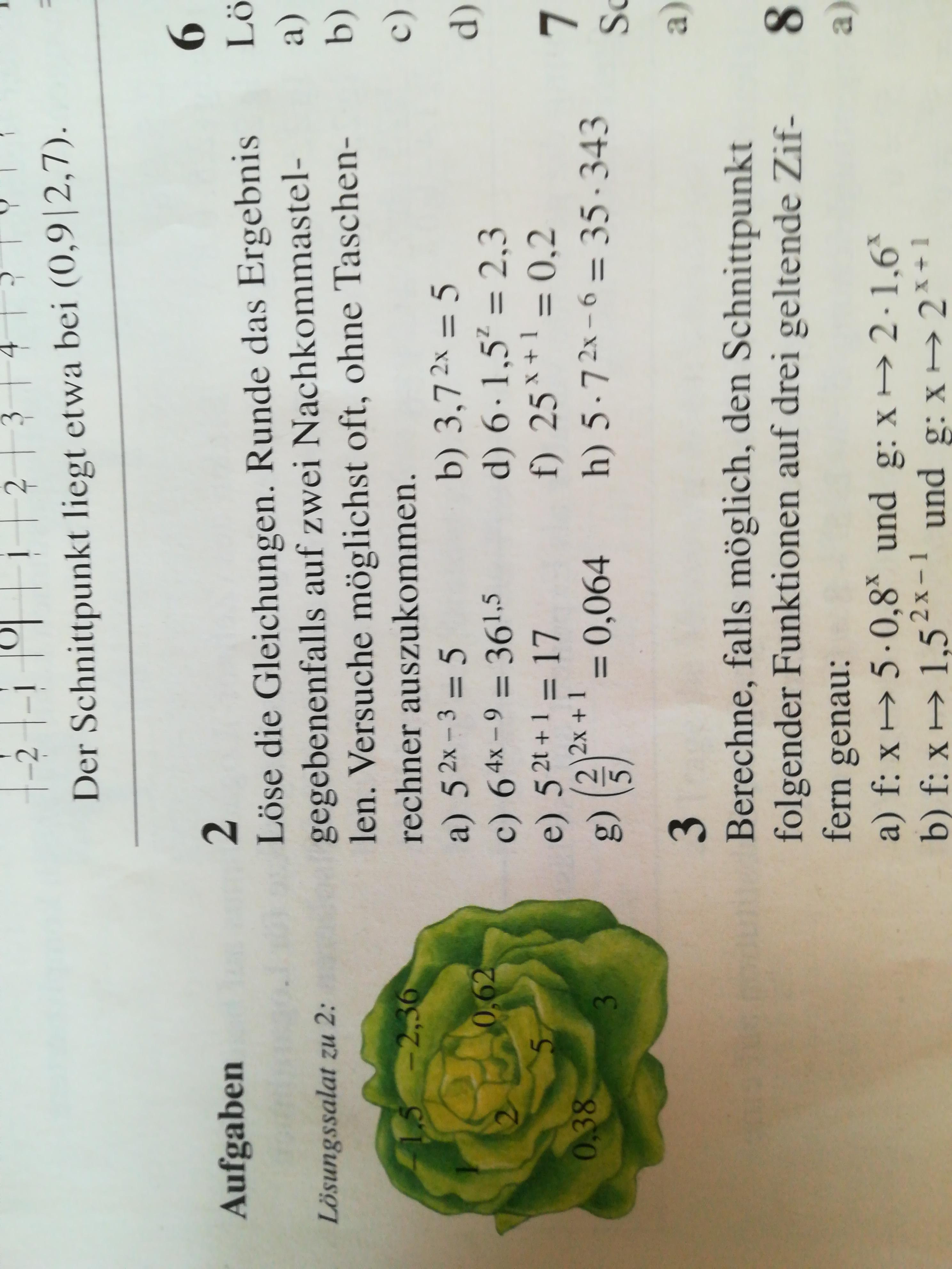 Was hab ich falsch gemacht (Exponentialgleichungen und Rechnen mit ...
