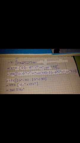 Volumen eines Torus - (Körper, Mathe, Mathematik)
