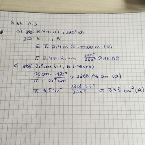 Meine Rechnung  - (Mathe, Mathematik, Kreis)
