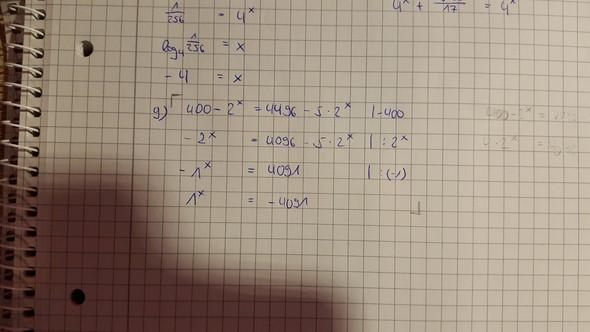 Die Aufgabe - (Mathe, Mathematik, exponentialgleichung)