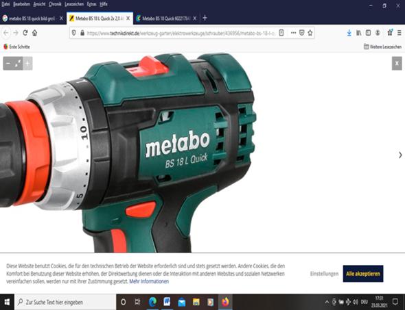 Was haben die Zahlen auf der Bohrmaschine von Metabo zu bedeuten?