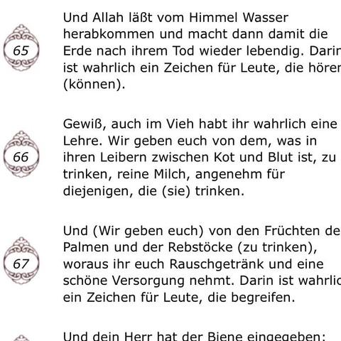 Vers 65-69 - (Religion, Islam, katholisch)