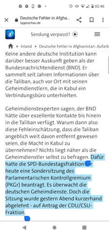 What do you think that the workup is blocked by the CDU / CSU?