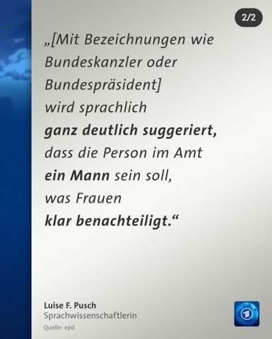 """Was haltet ihr davon, dass das Grundgesetz ,,gegendert"""" werden soll/te - Luise F. Pusch?"""