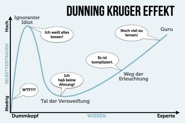 Was haltet ihr vom Dunning-Kruger-Effekt?