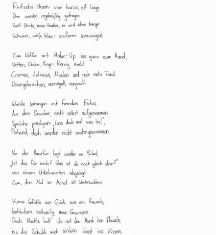 Was haltet ihr von dem Gedicht?