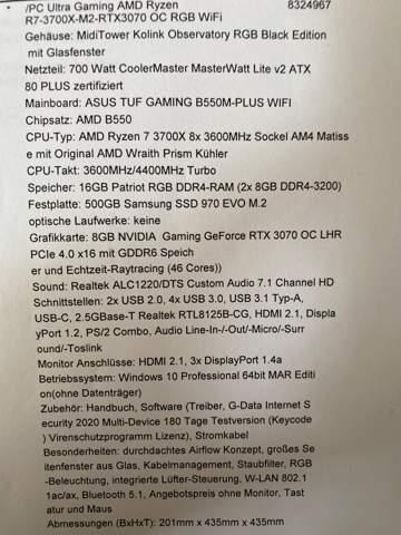Was haltet ihr von dem PC für 1899.00€?